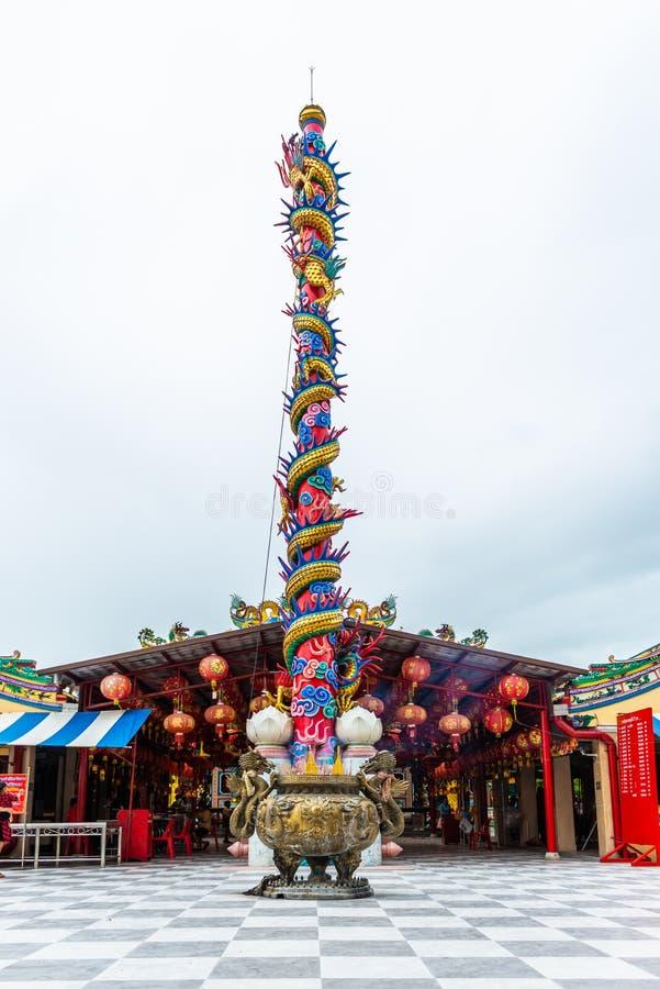 Η λάρνακα στυλοβατών πόλεων Suphanburi στοκ εικόνες