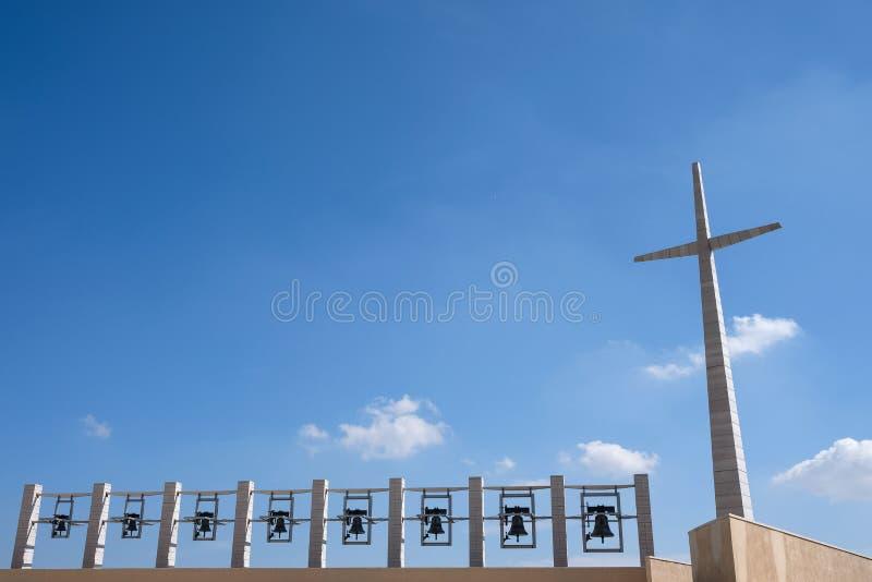 Η λάρνακα Padre Pio στη Σάντα Μαρία delle Grazie στο SAN Giovanni Rotondo, Ιταλία σχεδίασε από το Renzo Piano Η φωτογραφία παρουσ στοκ φωτογραφίες με δικαίωμα ελεύθερης χρήσης