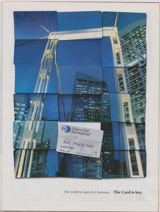 Η λέσχη γευματιζόντων διαφήμισης αφισών διεθνής στο περιοδικό από τον Οκτώβριο του 2005, κόσμος είναι ανοικτή για την επιχείρηση  στοκ φωτογραφία με δικαίωμα ελεύθερης χρήσης
