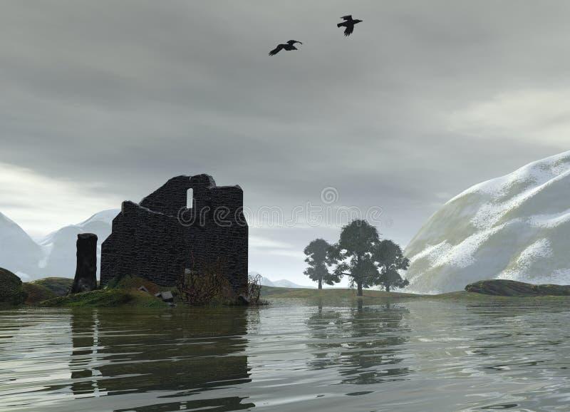 η λίμνη κάστρων κατέστρεψε &ta απεικόνιση αποθεμάτων