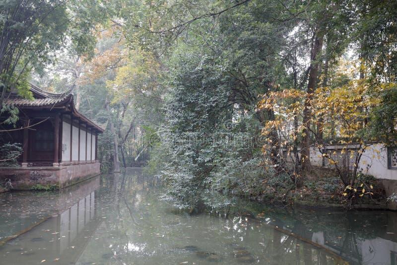 Η λίμνη σε du Fu το πάρκο εξοχικών σπιτιών, πλίθα rgb στοκ εικόνες