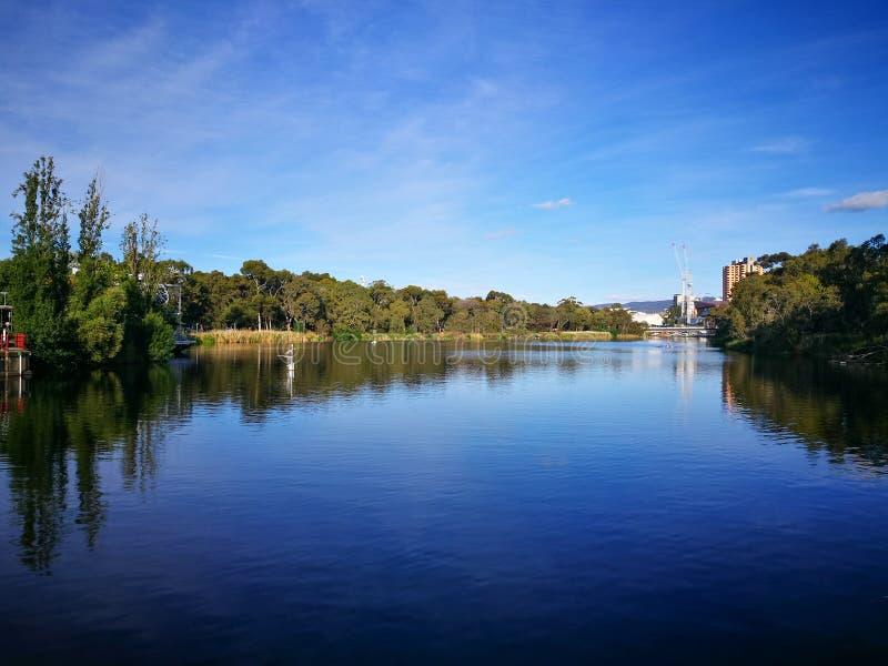 Η λίμνη Torrens είναι μια κανονικά εφήμερη αλατισμένη λίμνη στην κεντρική Νότια Αυστραλία στοκ εικόνα
