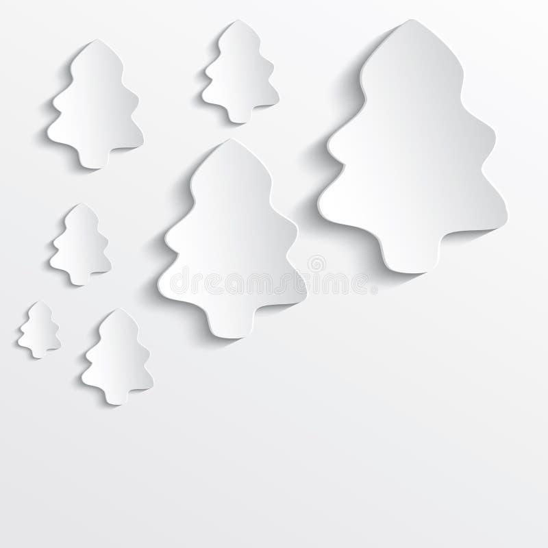 Η Λευκή Βίβλος χριστουγεννιάτικων δέντρων τρισδιάστατη ελεύθερη απεικόνιση δικαιώματος