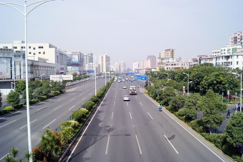 η λεωφόρος baoan Κίνα στοκ εικόνες με δικαίωμα ελεύθερης χρήσης