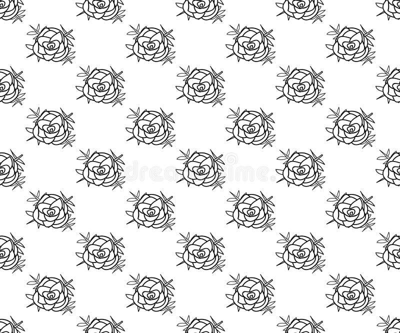 Η μαύρη γραμμή αυξήθηκε άνευ ραφής στο άσπρο υπόβαθρο επίσης corel σύρετε το διάνυσμα απεικόνισης απεικόνιση αποθεμάτων