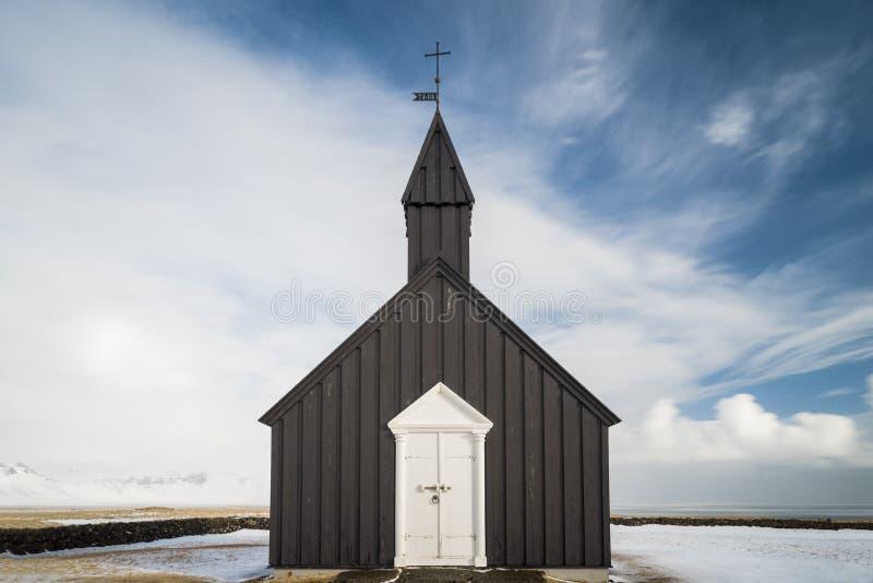 Η μαύρη εκκλησία από το ξενοδοχείο Budir στοκ φωτογραφία με δικαίωμα ελεύθερης χρήσης