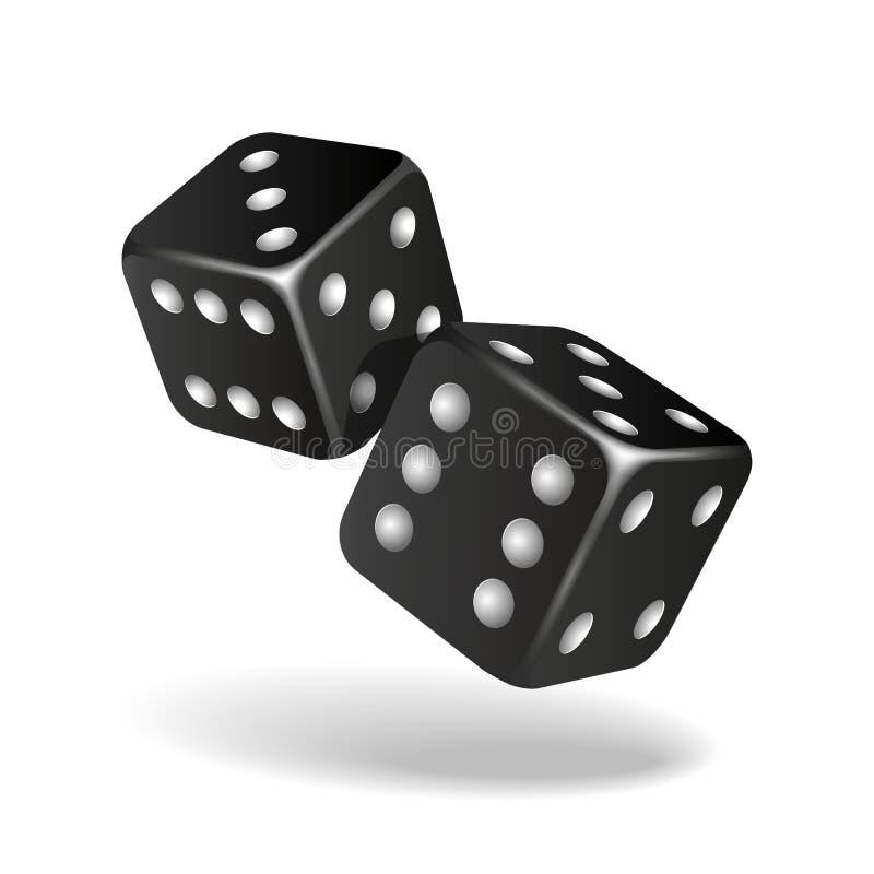 Η μαύρη πτώση δύο χωρίζει σε τετράγωνα απομονωμένος στο λευκό διανυσματική απεικόνιση