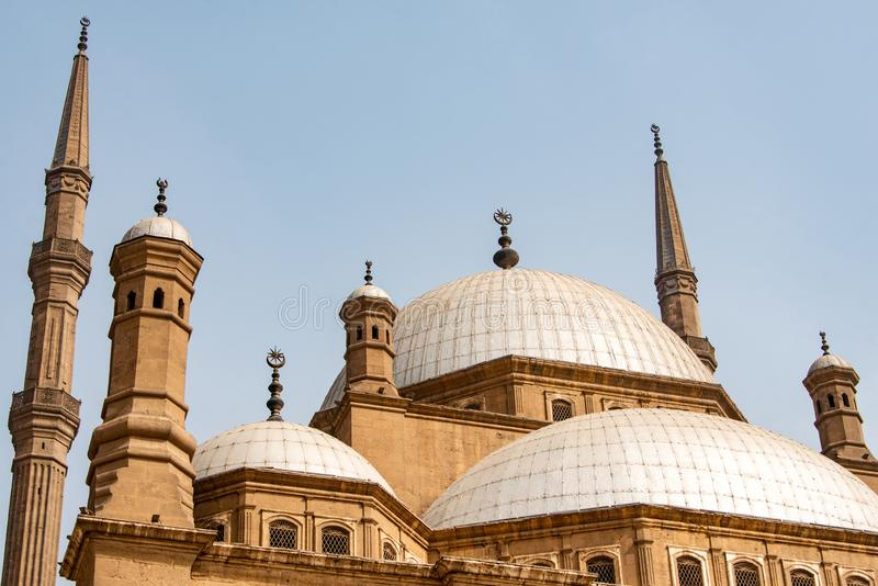 Η μεγάλη ακρόπολη μουσουλμανικών τεμενών του Muhammad Ali αλαβάστρινη του Καίρου, Αίγυπτος στοκ φωτογραφίες με δικαίωμα ελεύθερης χρήσης