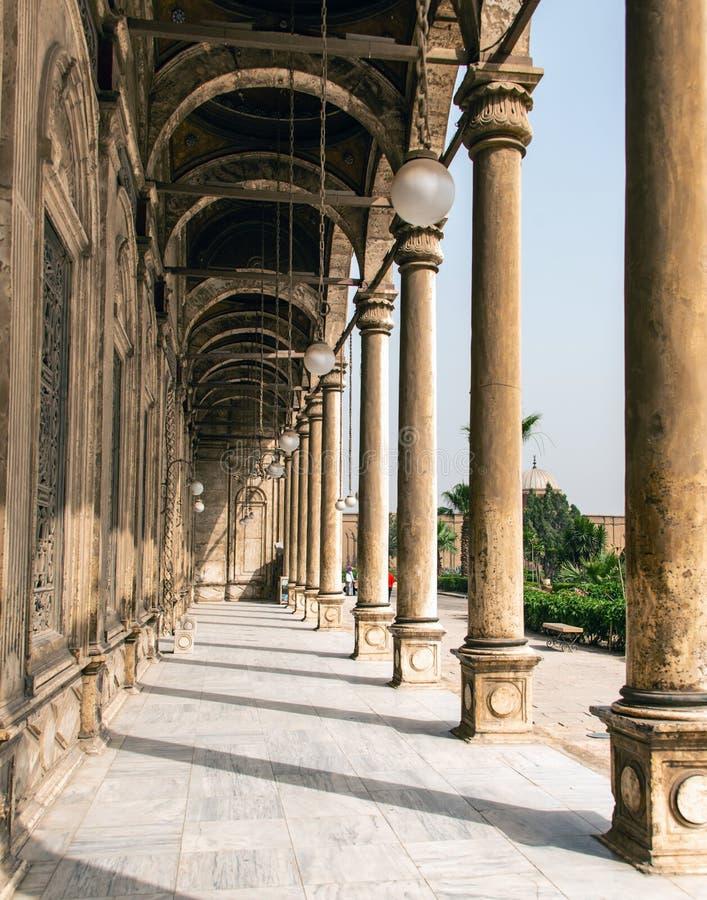 Η μεγάλη ακρόπολη μουσουλμανικών τεμενών του Muhammad Ali αλαβάστρινη του Καίρου, Αίγυπτος στοκ φωτογραφία