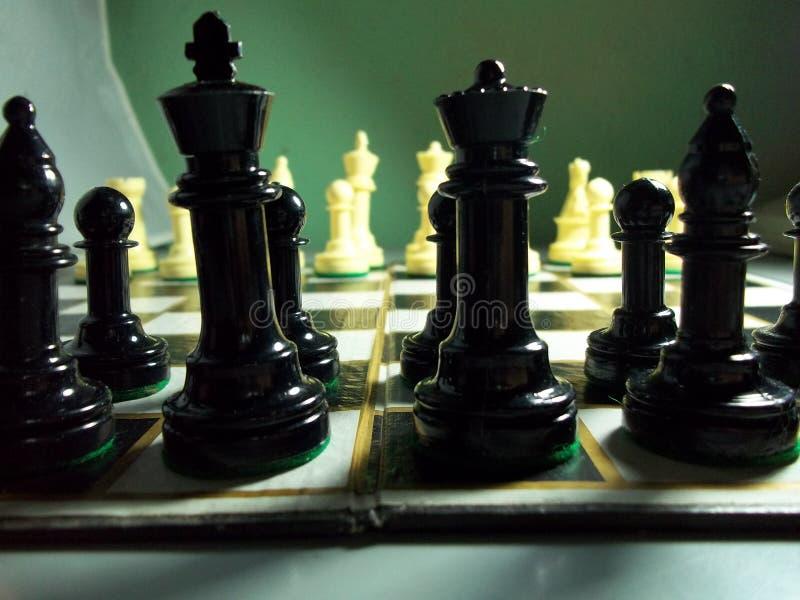Η μεγάλη μάχη του σκακιού στοκ φωτογραφίες