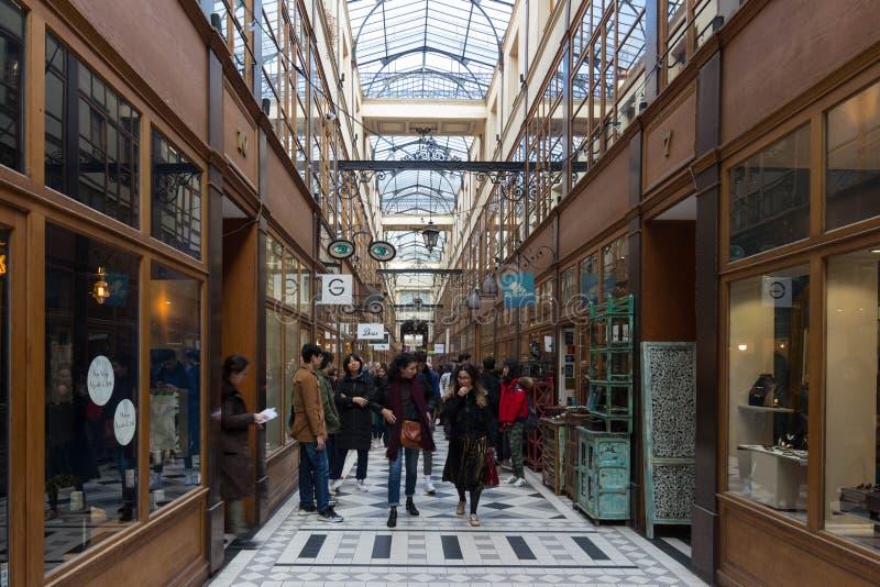 Η μεγάλη μετάβαση Cerf είναι μια από τη μεγαλύτερη που καλύπτεται arcades στο Παρίσι στοκ εικόνες με δικαίωμα ελεύθερης χρήσης