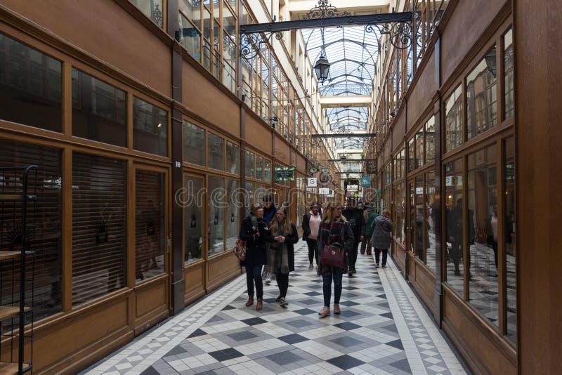Η μεγάλη μετάβαση Cerf είναι μια από τη μεγαλύτερη που καλύπτεται arcades στο Παρίσι στοκ φωτογραφία με δικαίωμα ελεύθερης χρήσης