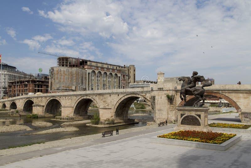 Η μεγάλη πέτρα στο skopje, Μακεδονία στοκ φωτογραφία