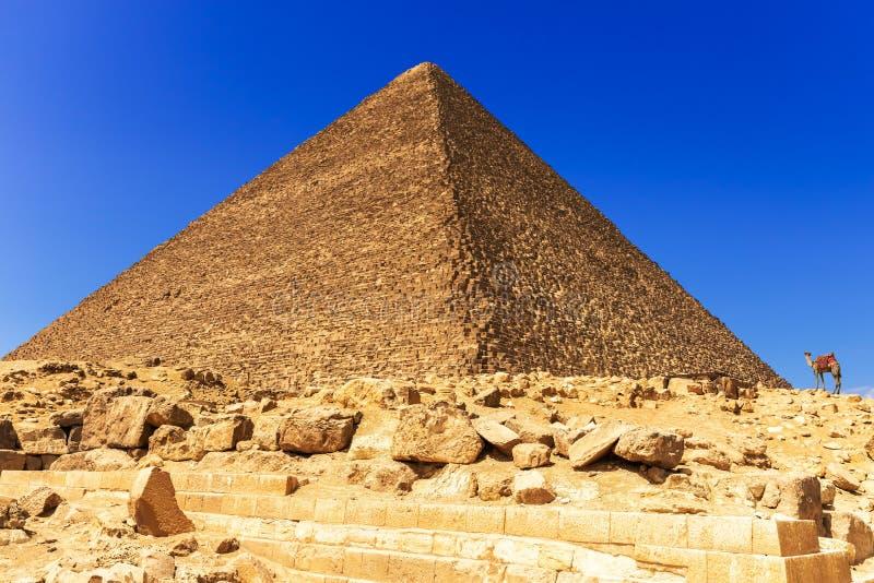 Η μεγάλη πυραμίδα Cheops σε Giza, Αίγυπτος στοκ φωτογραφία
