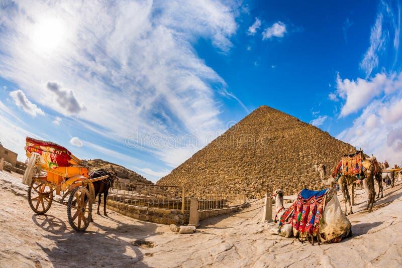 Η μεγάλη πυραμίδα Giza στοκ εικόνες με δικαίωμα ελεύθερης χρήσης