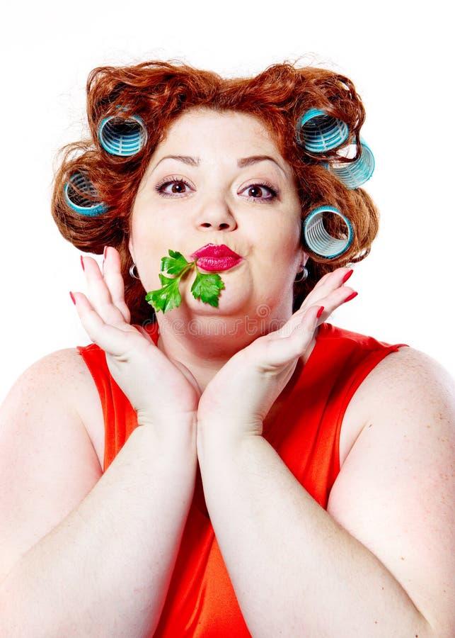 Η μεγάλα προσοχή, η διατροφή και το βάρος σωμάτων ομορφιάς τρόπου ζωής γυναικών στοκ φωτογραφίες