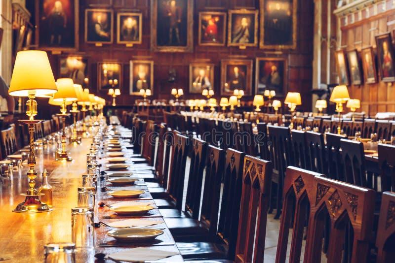 Η μεγάλη αίθουσα της εκκλησίας Χριστού, πανεπιστήμιο της Οξφόρδης στοκ εικόνες