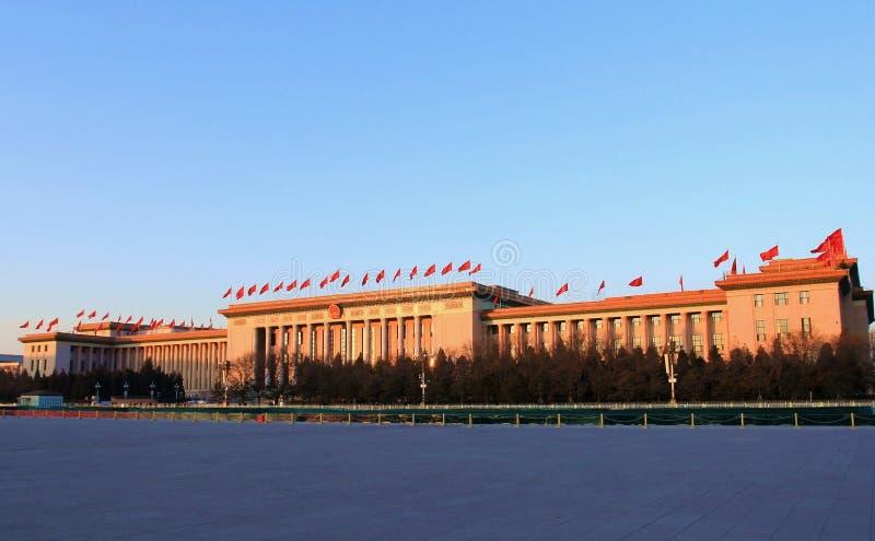 Η μεγάλη αίθουσα των ανθρώπων στην Κίνα στοκ εικόνα με δικαίωμα ελεύθερης χρήσης