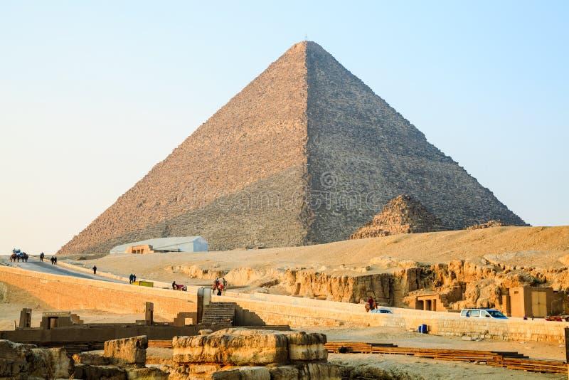 Η μεγάλη πυραμίδα του giza στοκ φωτογραφίες