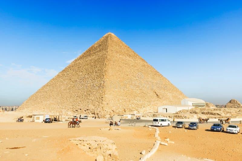 Η μεγάλη πυραμίδα Khufu σε Giza στοκ εικόνα με δικαίωμα ελεύθερης χρήσης