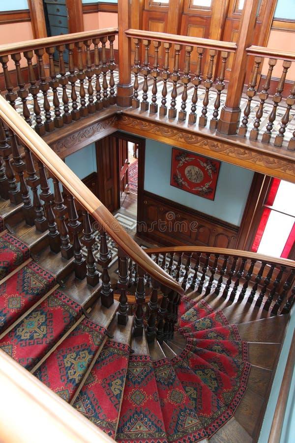 Η μεγάλη σκάλα σε Larnach Castle στο νέο ζήλο Dunedin στοκ εικόνες