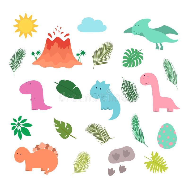 Η μεγάλη Dino καθορισμένη διανυσματική απεικόνιση