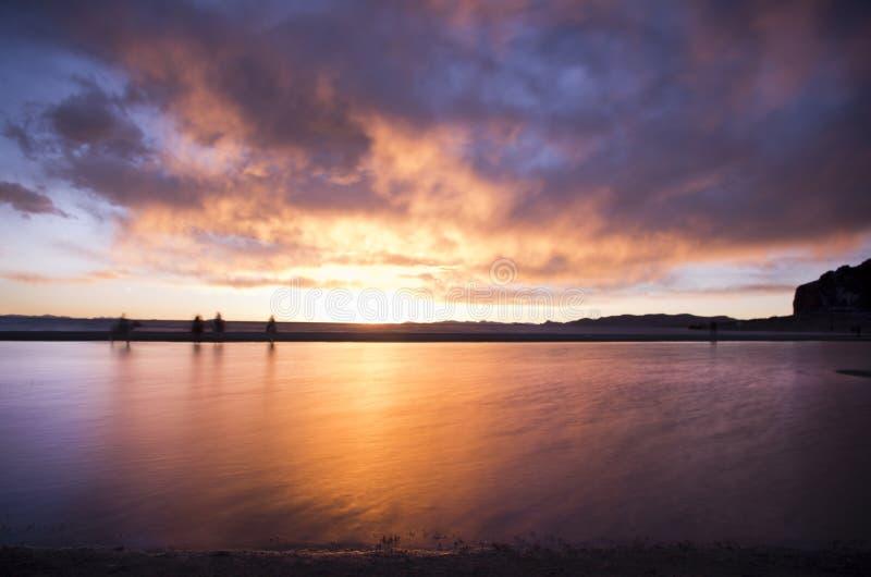 Η μεγαλύτερη λίμνη στο Θιβέτ στοκ εικόνα με δικαίωμα ελεύθερης χρήσης