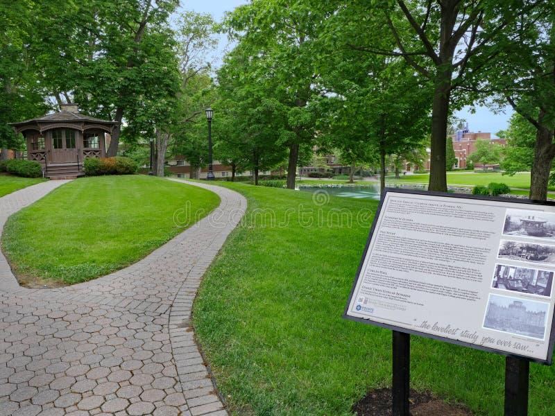 Η μελέτη Mark Twain συντηρείται στην πανεπιστημιούπολη του κολλεγίου του Ελμίρα στοκ εικόνα