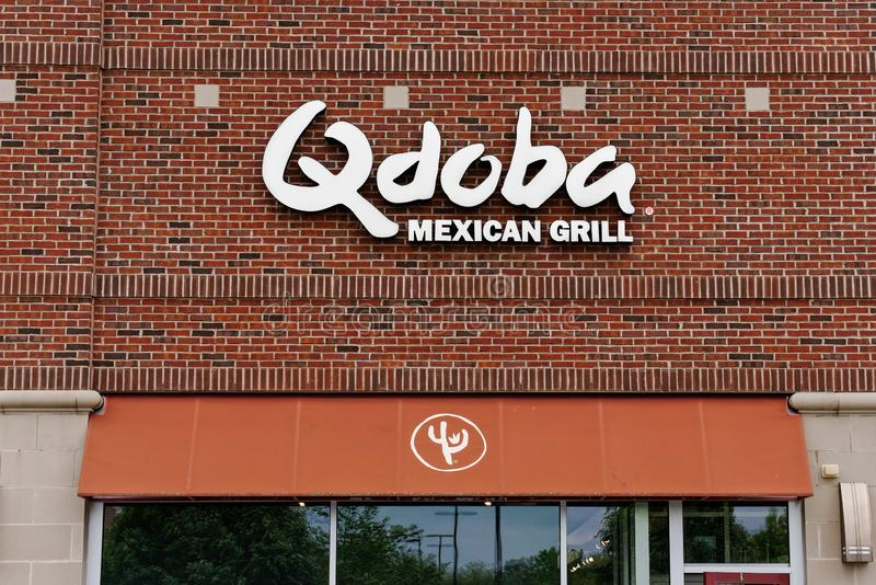 Η μεξικάνικη σχάρα Qdoba είναι μια αλυσίδα των παραχωρημένων εστιατορίων στοκ εικόνες