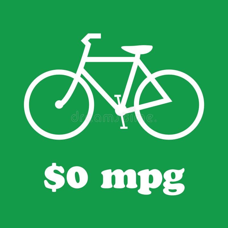 Η μετάβαση πράσινη, οδηγά ένα ποδήλατο διανυσματική απεικόνιση