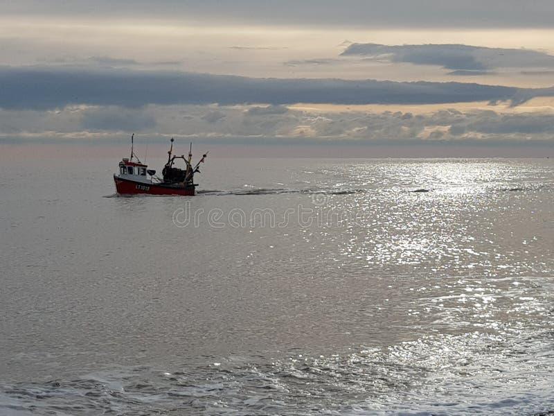 Η μεταφορά των χειμερινών αλιευμάτων στοκ φωτογραφία