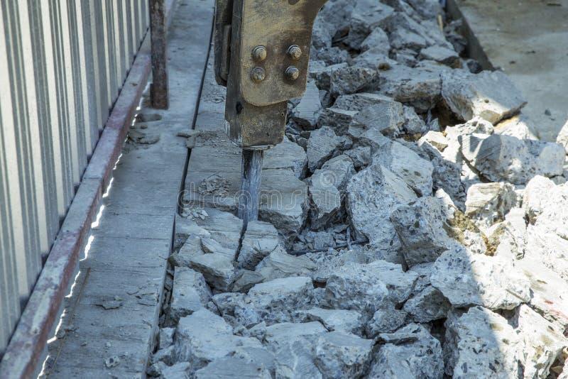 Η μηχανή διατρήσεων βράχου, στρέφει εκλεκτικό στοκ εικόνες με δικαίωμα ελεύθερης χρήσης