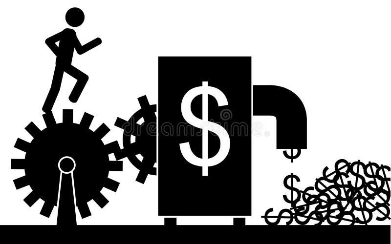 Η μηχανή δολαρίων ελεύθερη απεικόνιση δικαιώματος