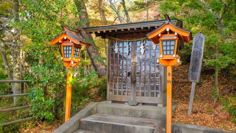 Η μικρή λάρνακα σε Kawaguchiko, Ιαπωνία στοκ εικόνα
