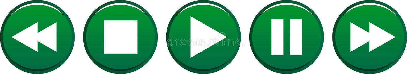 Η μικρή διακοπή στάσεων παιχνιδιού κουμπώνει πράσινο απεικόνιση αποθεμάτων