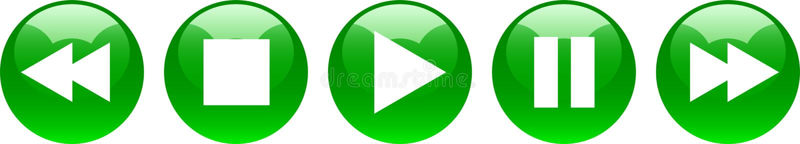 Η μικρή διακοπή στάσεων παιχνιδιού κουμπώνει πράσινο διανυσματική απεικόνιση