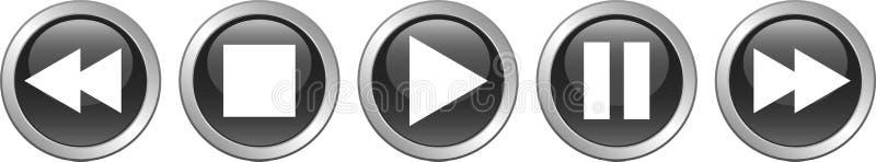 Η μικρή διακοπή στάσεων παιχνιδιού κουμπώνει το Μαύρο απεικόνιση αποθεμάτων