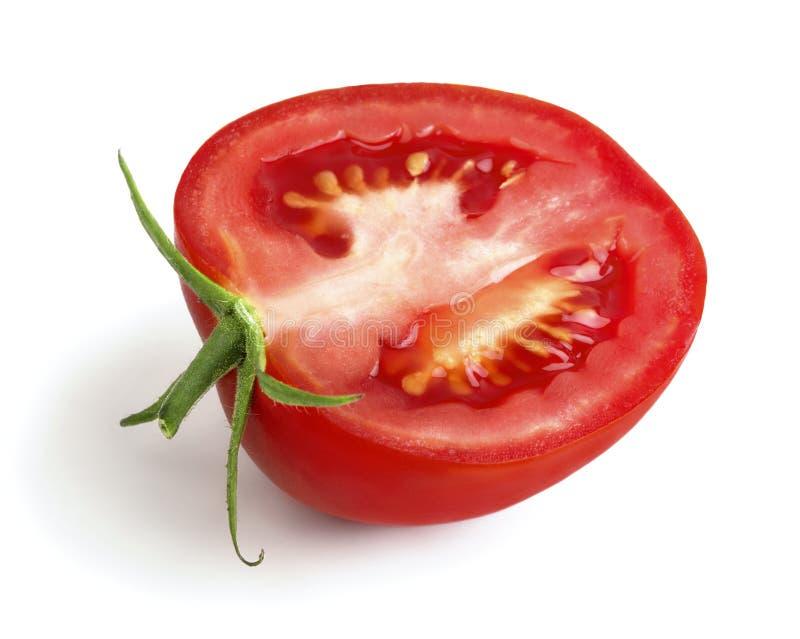 Η μισή από την ώριμη ντομάτα στοκ εικόνες
