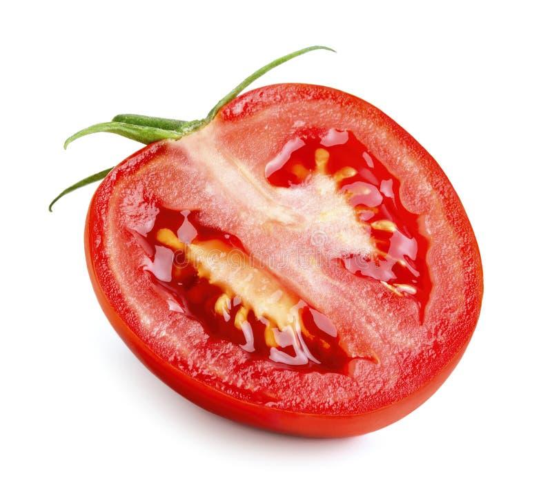 Η μισή από την ώριμη ντομάτα στοκ εικόνες με δικαίωμα ελεύθερης χρήσης