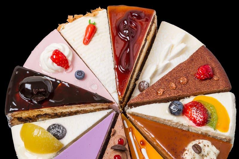 Η μισή από τη batch κέικ στο Μαύρο στοκ φωτογραφία