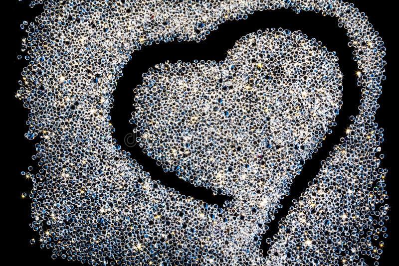 Η μορφή καρδιών διασποράς κρυστάλλου στοκ φωτογραφία με δικαίωμα ελεύθερης χρήσης