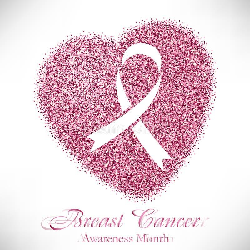 Η μορφή της καρδιάς από το ροζ ακτινοβολεί με την κορδέλλα μέσα απεικόνιση αποθεμάτων