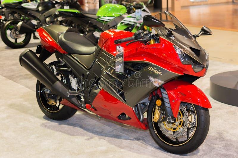 30η μοτοσικλέτα εκδόσεων επετείου ABS Ninja Kawasaki zx-14R στοκ φωτογραφίες με δικαίωμα ελεύθερης χρήσης