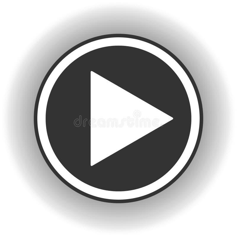 Εικονίδιο κουμπιών παιχνιδιού Η μουσική και το βίντεο χτυπούν προς τα εμπρός το σύμβολο μορφής Μέσα φορέων έναρξης βελών ώθησης Ν απεικόνιση αποθεμάτων