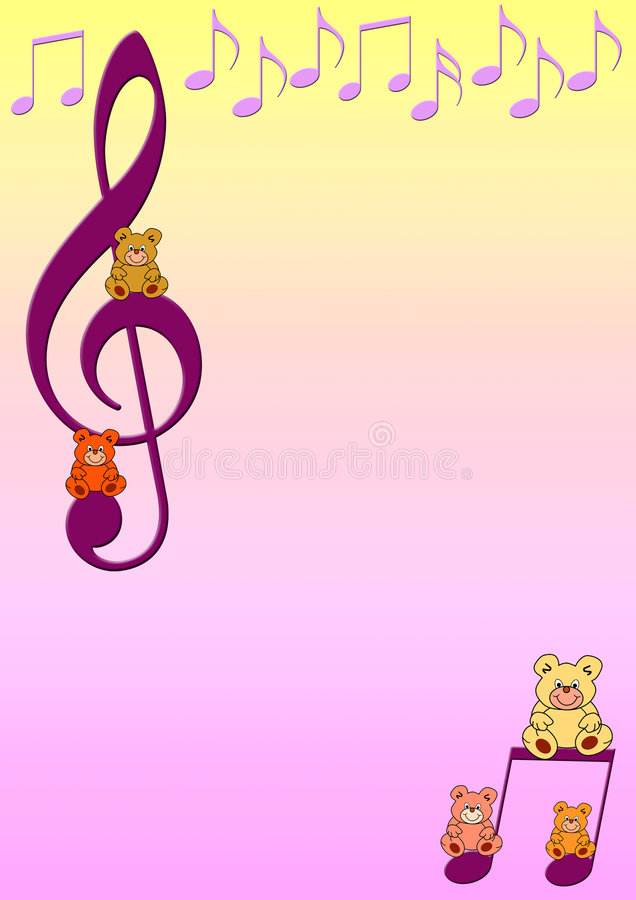 η μουσική σημειώνει teddies ελεύθερη απεικόνιση δικαιώματος