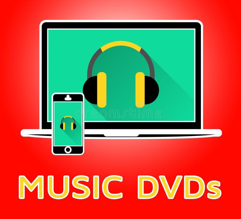 Η μουσική Dvds δείχνει την τρισδιάστατη απεικόνιση CD ελεύθερη απεικόνιση δικαιώματος