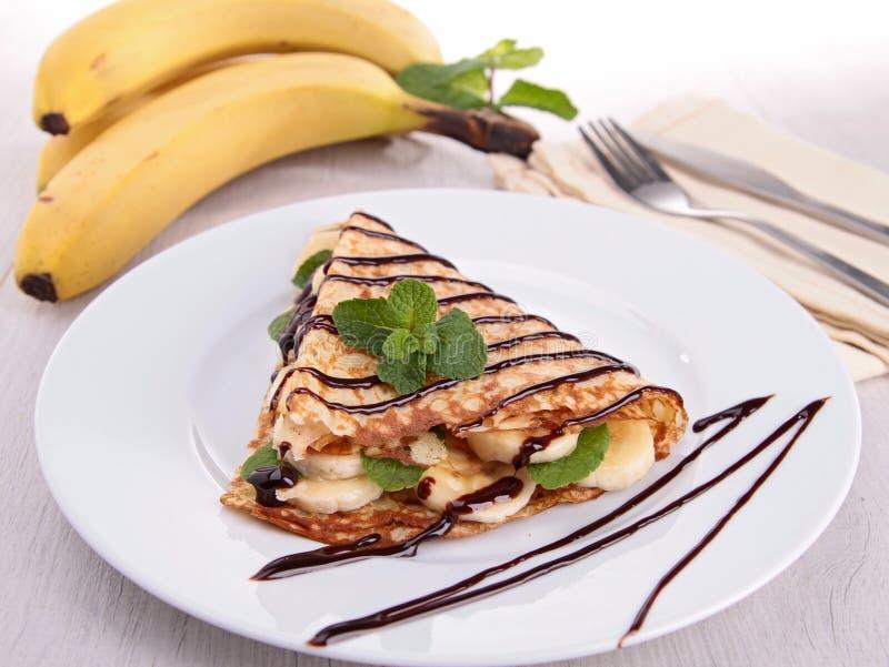 Η μπανάνα crepe στοκ εικόνες