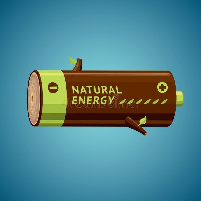 Η μπαταρία μοιάζει με το καυσόξυλο απεικόνιση αποθεμάτων