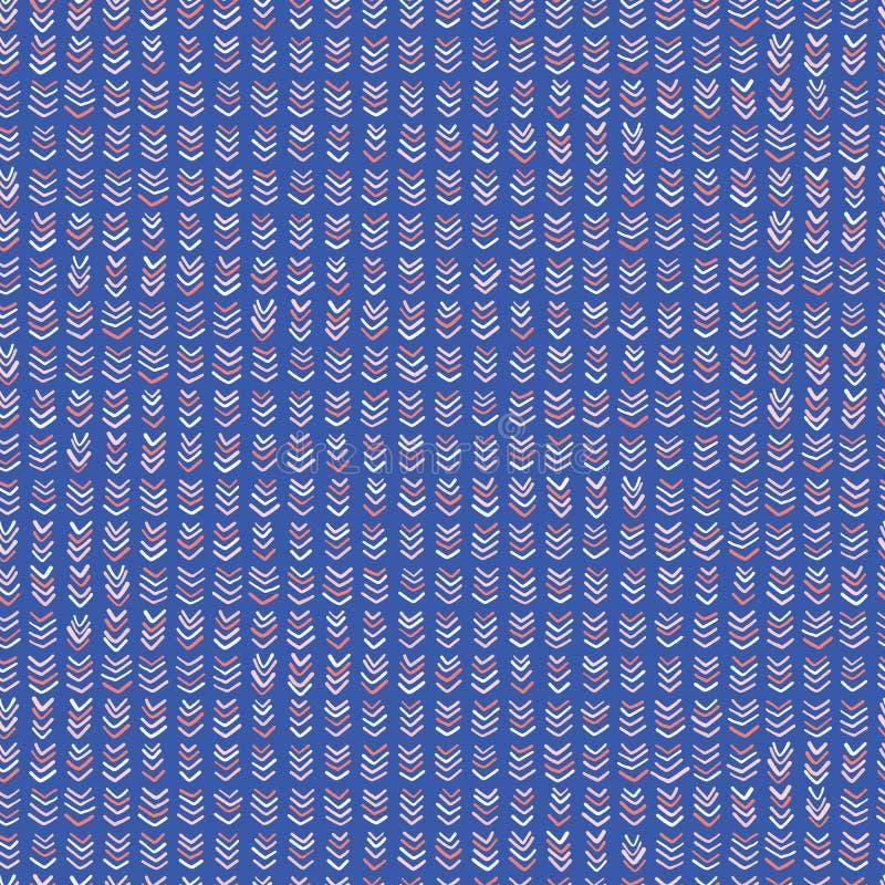 Η μπλε καθιερώνουσα τη μόδα περιγραμματική γραμμή χαρακτηρίζει το άνευ ραφής διανυσματικό σχέδιο διανυσματική απεικόνιση