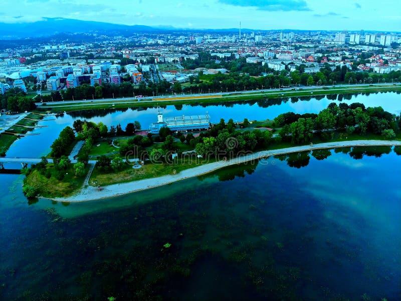 Η μπλε πόλη είναι μπλε στοκ φωτογραφίες με δικαίωμα ελεύθερης χρήσης